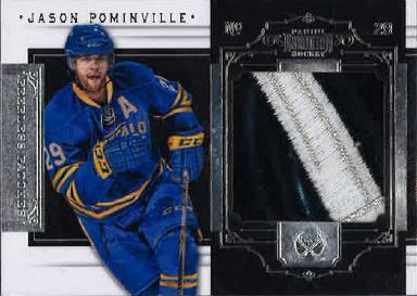 My 2010/11 Panini Dominion Peerless Patches. Piece of game-used jersey is from the 2005/06-season.