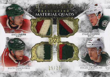 2015-16 EXQUISITE MATERIAL QUADS /25